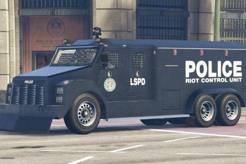 LSPD RCU RCV Riot Control Unit Riot Control Vehicle Riot2 Livery (4K)