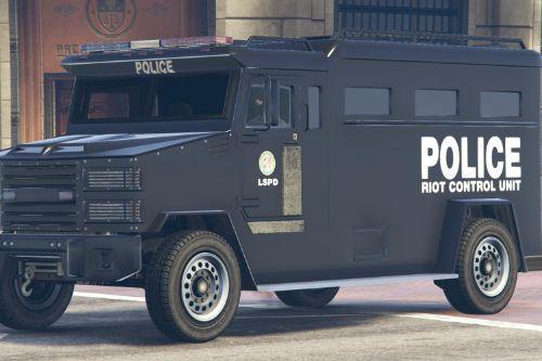 LSPD RCU Riot Control Unit Brute Police Riot Truck Livery (4K)