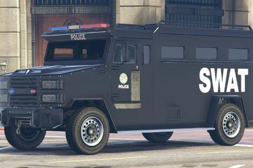 LSPD SWAT Truck Livery Brute Police Riot Truck (4K)