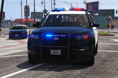 LSPD Vapid Police Cruiser Utility (Scout) [Add-on] [Custom Soundbank]