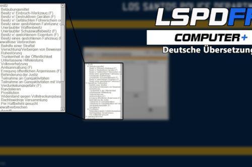 LSPDFR Computer+  Deutsche Übersetzung