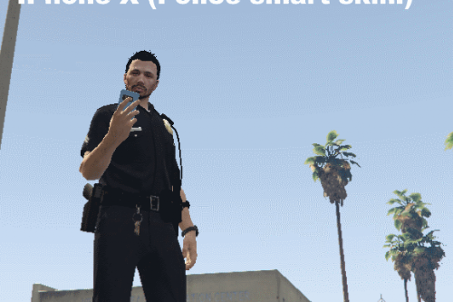 LSPDFR IPhone X SmartRadio (PoliceSmartRadio Skin) 1.0.0