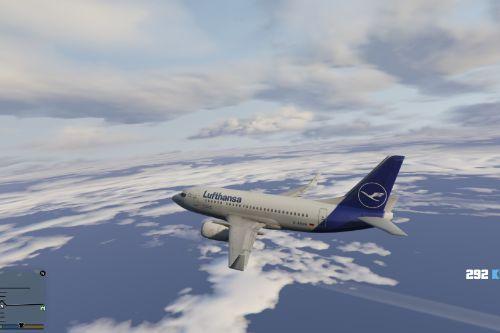 Lufthansa 737-500 Skin for Heinrich's 737-500