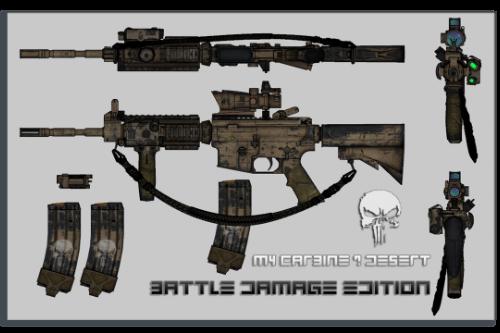 M4 Carbine Battle damage Edition / Desert