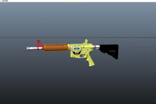 M4A4 Spongebob Squarepants pack [Texture]