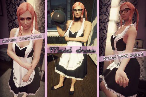 Maid (Anime inspired) dress for MP Female