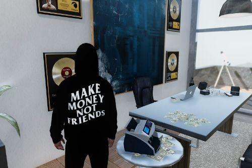 Make Money Not Friends Hoodie for MP Male