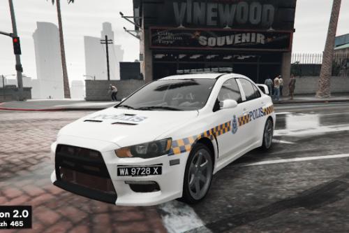 Malaysia Police PDRM Old livery for Mitsubishi Evo X