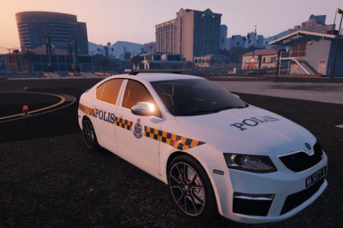 Malaysian Police PDRM Old Livery For 2014 Police Skoda Octavia VRS Hatchback