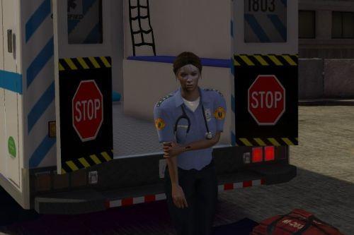 EMS EMT Paramedic Ped Models M&F & Retexture [Fivem]