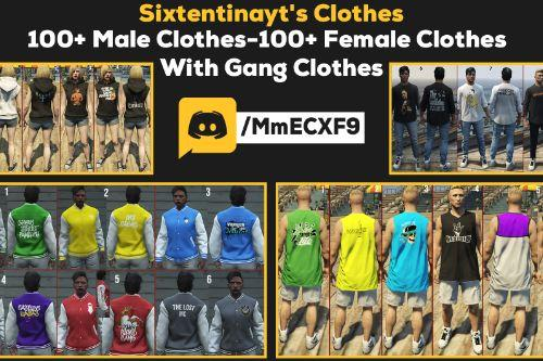 Male& Female& Gang Clothing Pack FiveM Ready