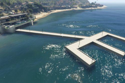 Malibu Mansion Dock and Helipad [Add-On] [YMAP / XML / Mapbuilder]