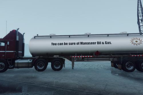Manaseer Oil & Gas, Texaco, Esso & Chevron Trailer Tanker