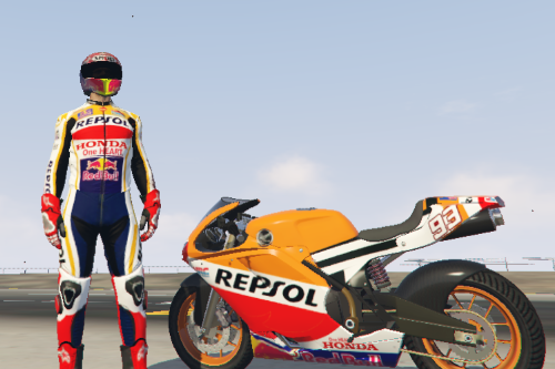 Marc Marquez Race Suit for MP Freemode Male