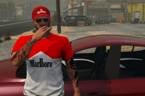 Marlboro cap and t-shirt
