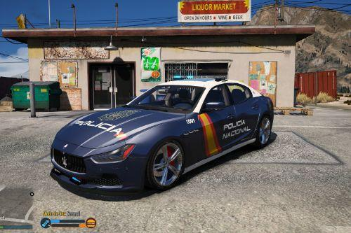 Maserati Ghibli Policia Nacional/CNP Spain [FiveM-ADD-ON]