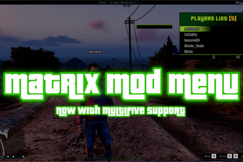 Matrix Mod Menu [SP / MV]