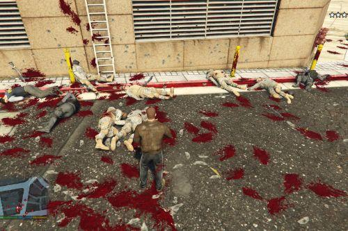Max Payne 3's blood style