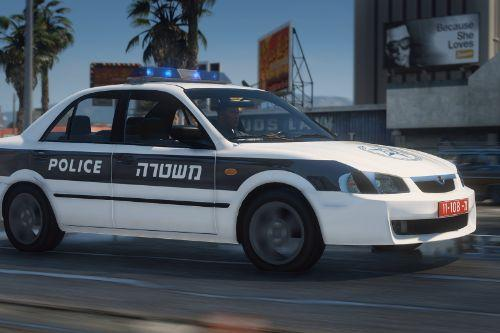 Mazda 323 (lantis) 1999 | An old Israeli police car | [ ELS - Add-on ] +Template