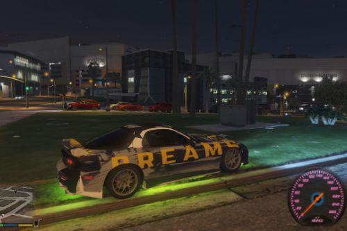 Dreams Livery for Neos7's Mazda RX7 FD3S