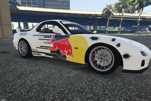Mazda RX7 livery - Red Bull Racing / Tuner Design [Paintjob]