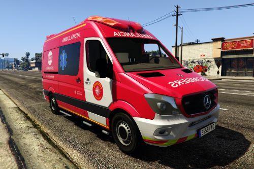 MB Sprinter Ambulancia Bombers Barcelona - Barcelona FD Ambulance
