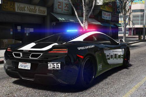 McLaren MP4 12C | Hot Pursuit Police [Add-On / Replace | Template]