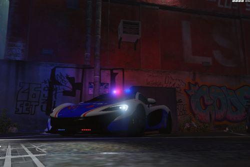 McLaren P1 Indonesian Police