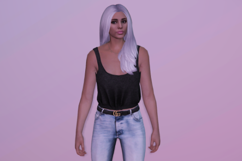 Medium long hairstyle for MP Female