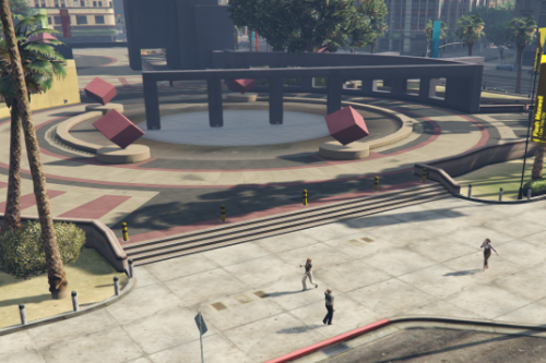Legion Square Meeting Point Decoration with Lights [YMAP / FiveM]