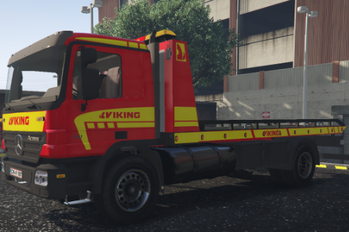 Mercedes Actros - Viking flatbed danish livery