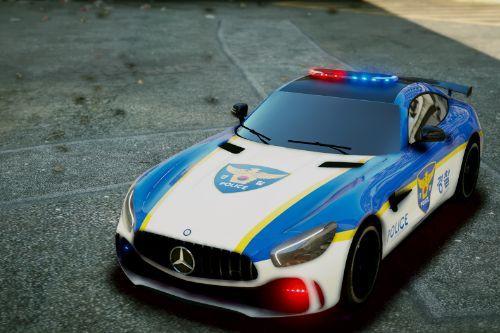 Mercedes AMG GTR Korean Police Skin / AMG GTR 한국경찰 Skin