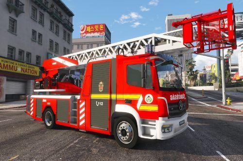 Mercedes Atego DLK Metz Hungarian Firetruck