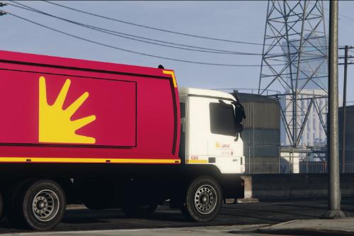 Mercedes-Benz Actros Trash Truck A.M.A. Roma Paintjob