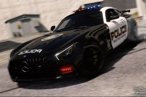 Mercedes-Benz AMG GT R 2017 | Hot Pursuit Police [Add-On / Replace | Template]