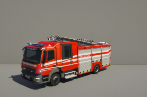 Mercedes Benz Atego - Vigili del fuoco italiani - [ELS+Template]