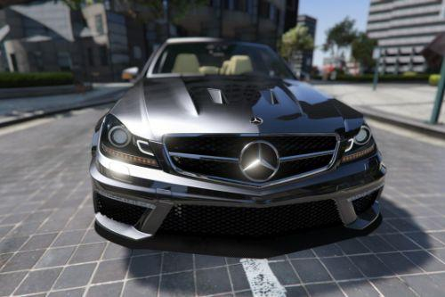 Mercedes-Benz C63 AMG 2013 [Add-On | Template]