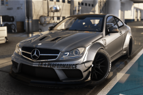 Mercedes-Benz C63 Black Series LibertyWalk 2014  [Add-On | Template]