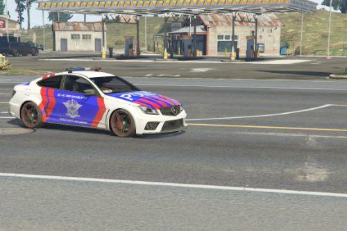 Mercedes-Benz C63 Police Indonesian