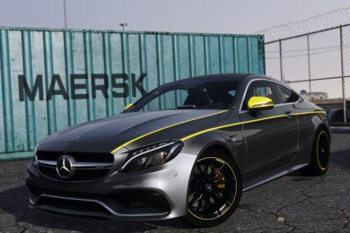 Mercedes Benz C63S Stripe Livery (4k)