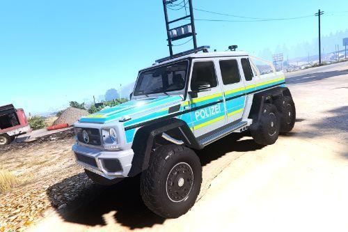 Mercedes-Benz G63 AMG 6x6 - German Police Polizei Livery