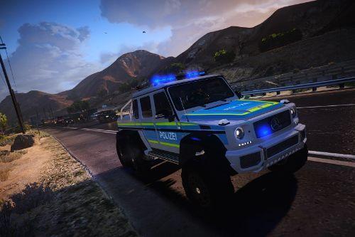 Mercedes-Benz G63 AMG 6x6 - German Police Livery