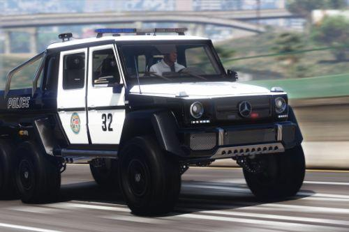 Mercedes-Benz G63 AMG 6x6 Police [Add-On | Tuning]