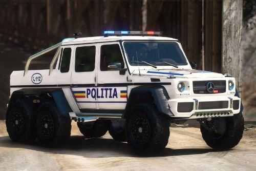 Mercedes-Benz G63 AMG 6x6 Politia Romana[Add-on] NON-ELS v1.0