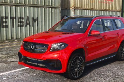 2016 Mercedes-AMG GLS 63 (X166) [Add-On /Template]