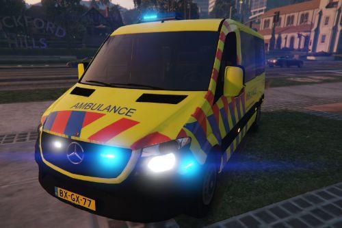 Mercedes Benz Sprinter Dutch Ambulance 2014 [ELS]
