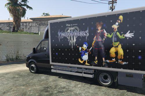 Mercedes-Benz Sprinter livery - Kingdom Hearts 3 ( III ) Design [Paintjob]