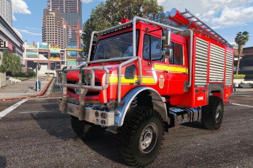 Mercedes Benz Unimog Offroad Hungarian firetruck