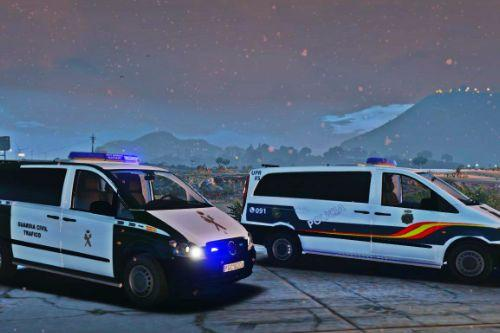 Mercedes-Benz Vito CNP upr y Guardia Civil de Trafico