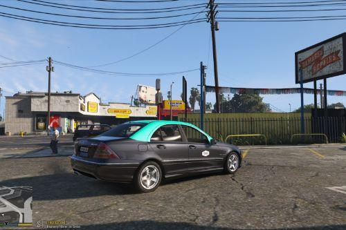 Portuguese TAXI - Mercedes C32 [Paintjob / Replace] discontinued